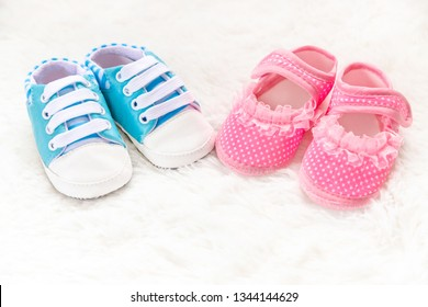 Beautiful background with the image of children's accessories and selective focus.