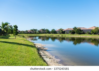 Beautiful background of a residential Florida golf community