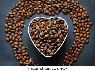 Beautiful background with scattered coffee