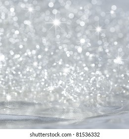 Beautiful background in silver with stars