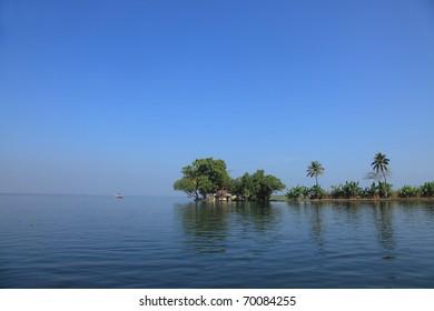 Beautiful backwater destinations of Kerala, India.