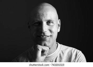 Beautiful bald man