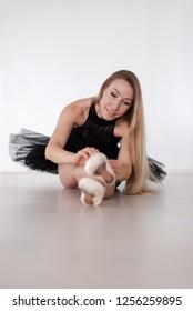 Beautiful Ballet dancer in studio