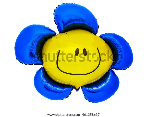 Beautiful balloon in the shape of a flower on an isolated background
