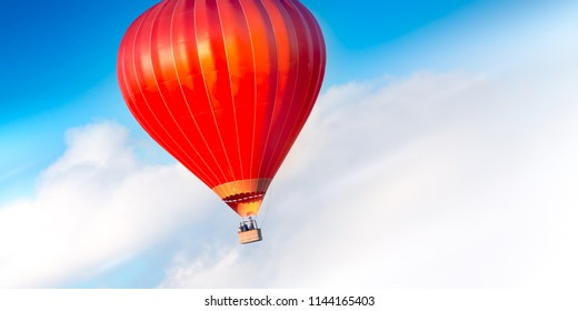 Beautiful balloon in the sky
