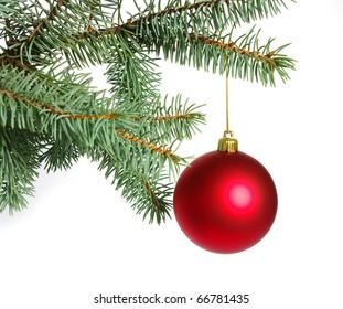beautiful balls on christmas tree
