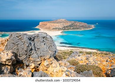 Beautiful Balos beach on Crete Island, Greece