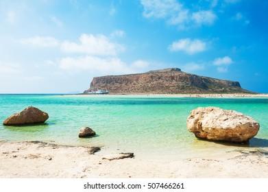 Beautiful Balos Lagoon in Crete island, Greece