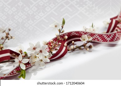 Beautiful banner or greeting card template for latvian national celebrations