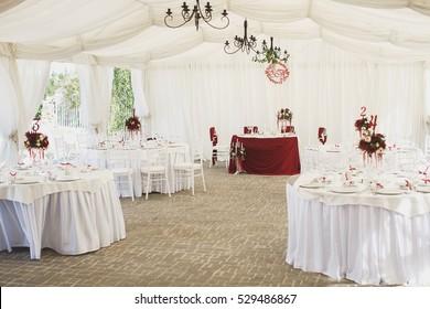 Beautiful Banquet hall under a tent for a wedding reception. & wedding tent Images Stock Photos u0026 Vectors | Shutterstock