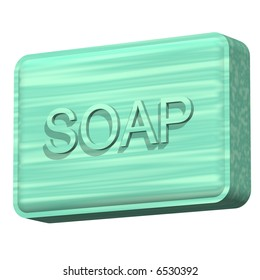 Beautiful bar of soap isolated on white