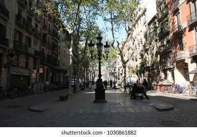 Beautiful Barcelona street