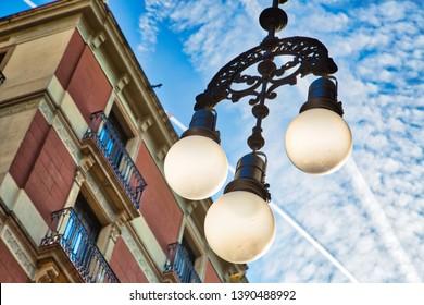 Beautiful Barcelona streets in historic city center near Lar Ramblas