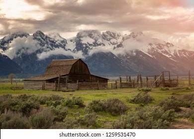 Beautiful Barn house in Grand Teton National Park, Montana, USA