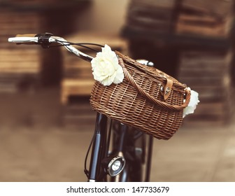 Beautiful basket on an old bike