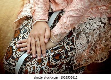 Beautiful Batik And Kebaya Javanese Traditional Wedding, Indonesia
