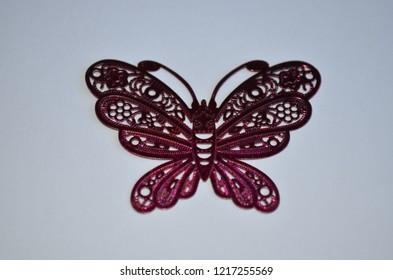 Beautiful batterfly, white background
