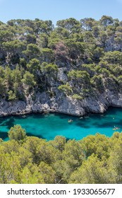 Beautiful Bay in the calaques national park at the mediterranean sea in France, Europe