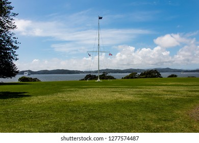 Beautiful Bay of Islands Flag Pole at Waitangi New Zealand