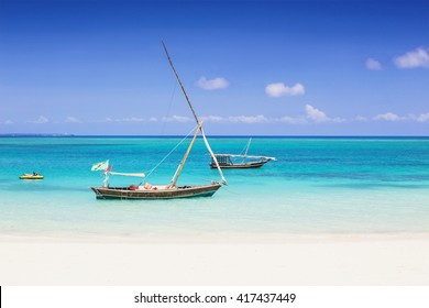 Beautiful bay on the tropical island of Zanzibar