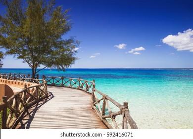 Beautiful bay on the tropical island of Zanzibar, Tanzania