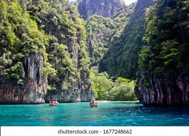 Beautiful bay of Phi Phi island