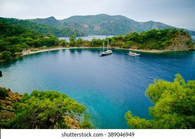 beautiful bay, picturesque seashore