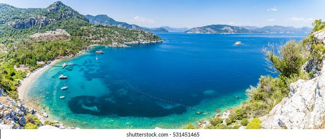 Beautiful Bay view near Amos Ancient City in Marmaris