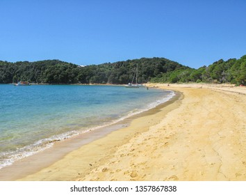 Beautiful beach at Abel Tasman National Park in New Zealand