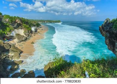 beautiful beach at Bali, Indonesia.