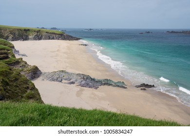 Beautiful beach at Blasket Island near Slea Head Drive,  one of Irelands most scenic routes, Dingle peninsula, Kerry, Ireland