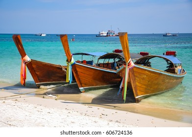 beautiful beach with boat