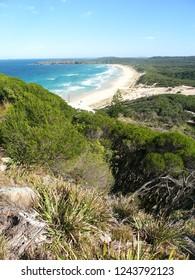 Beautiful beach at Booti Booti National Park of Australia