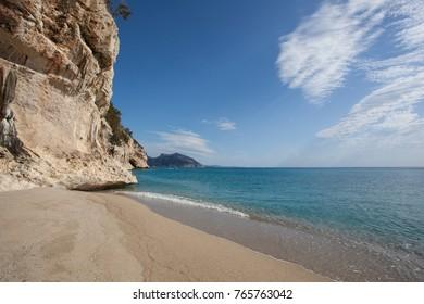 Beautiful beach at Cala Luna, Sardinia, Italy