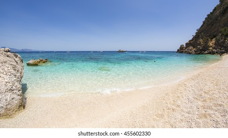 beautiful beach of Cala Mariolu in Sardinia, Orosei gulf