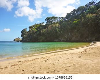 A beautiful beach called Garden Cove, on Waiheke Island, Auckland, New Zealand