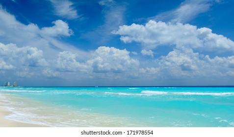 Beautiful beach in Cancun