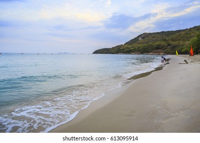 beautiful beach, Chonburi Thailan