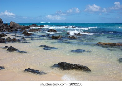 Beautiful beach with clear water