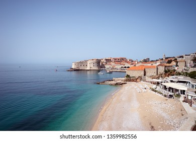 The beautiful beach of Dubrovnik old town