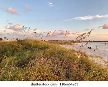 Beautiful beach during sunset in Florida.