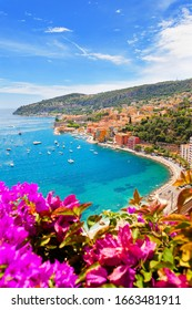 Beautiful beach in french riviera, France