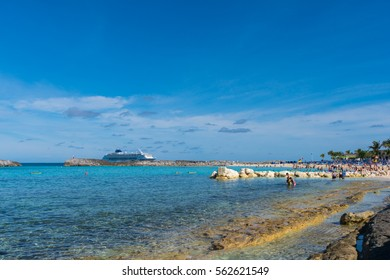 Beautiful beach in Great Stirrup cay island, Bahamas