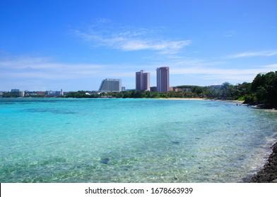 the beautiful beach in guam