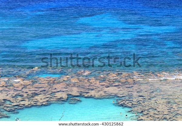 Beautiful beach Hanauma bay in Oahu island Hawaii