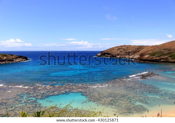 Beautiful beach Hanauma bay in Oahu island Hawaii