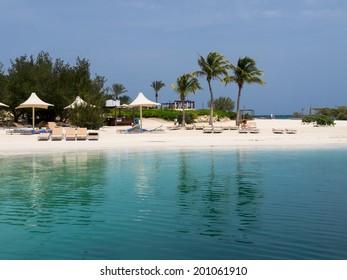 A beautiful beach and hotel on the Island of Curacao Caribbean