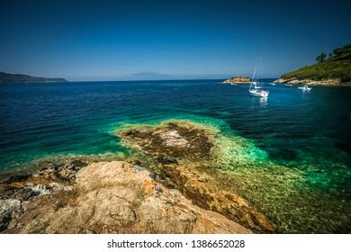 The beautiful beach of Isola d'Elba, Tuscany