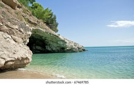 The Beautiful Beach in Italy (Pugniochiuso)