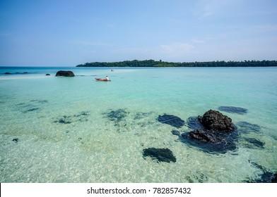 The beautiful beach of Koh Kham, Trat, Thailand.